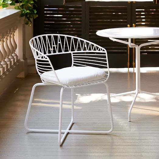 Soleil Metal Outdoor Bistro Chair Bistro Chairs Outdoor Wood Patio Furniture Outdoor Dining Chairs