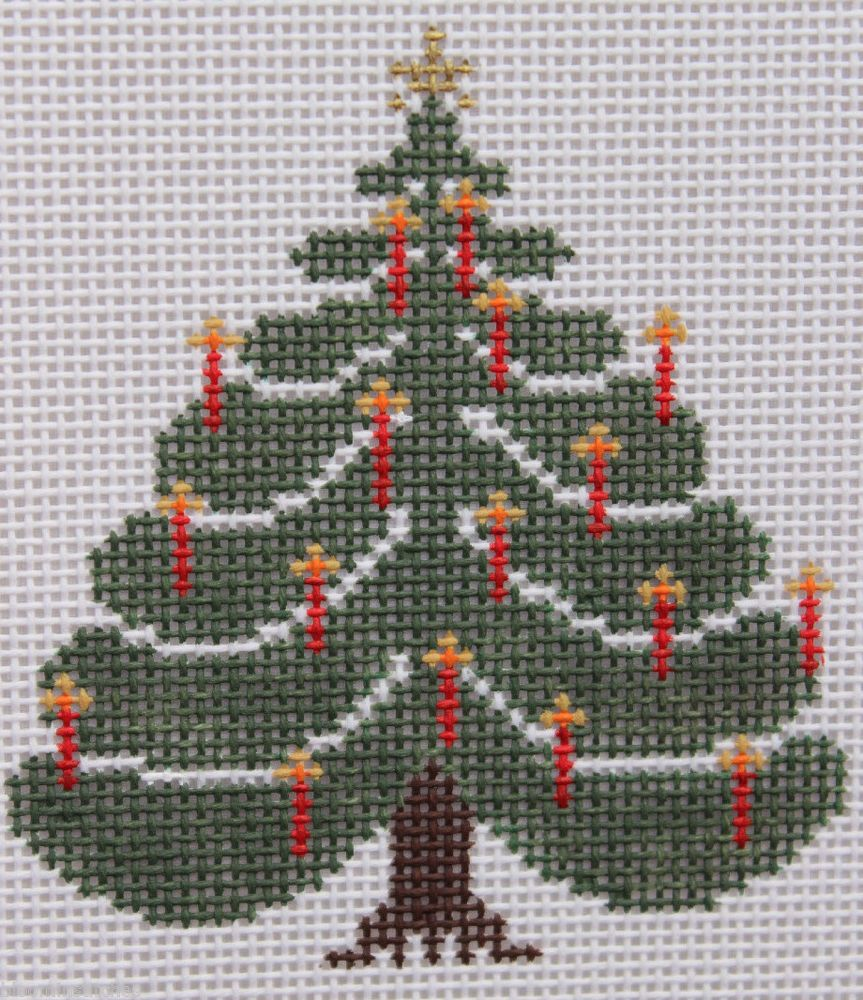 Petei for Painted Pony Designs Christmas Tree PT292 HP Needlepoint Canvas