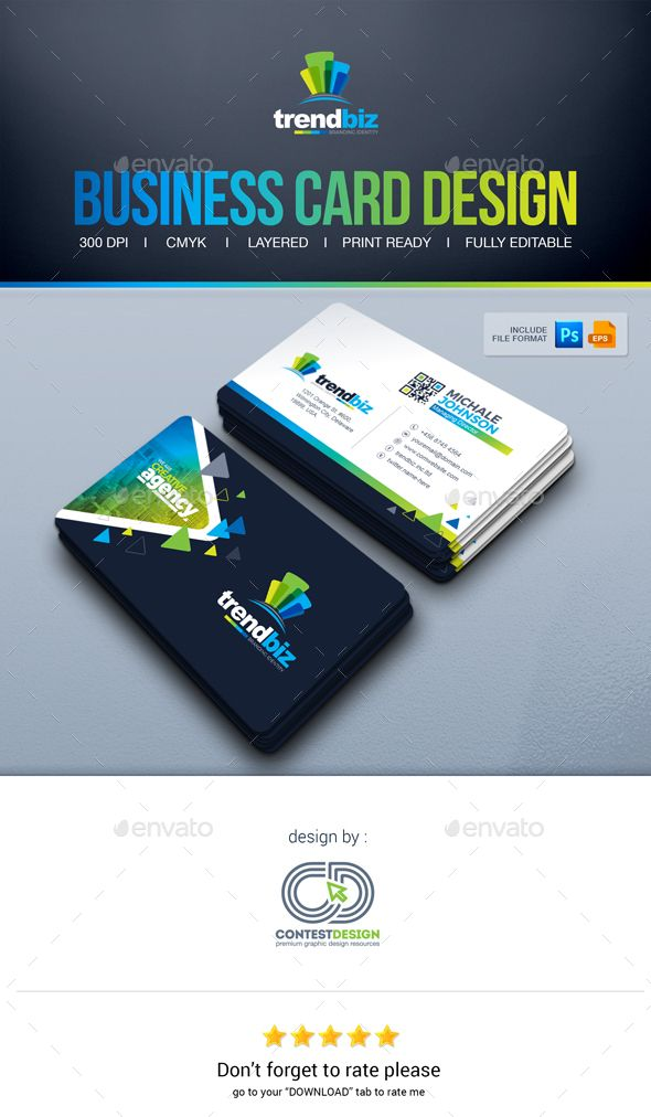 Business Card Design | Business cards, Corporate business and ...