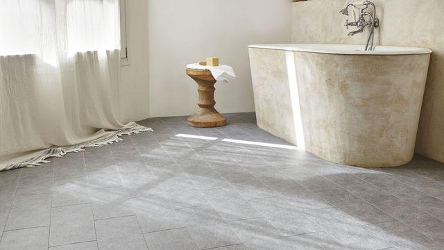 Sol salle de bain  12 revêtements de sol canon Canon and Euro - dalle de sol chambre
