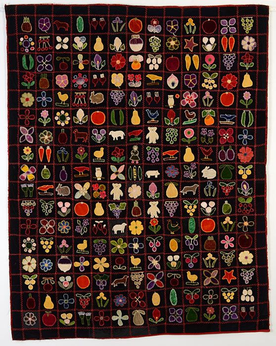 Velvet Album Quilt: Circa 1890;Maryland