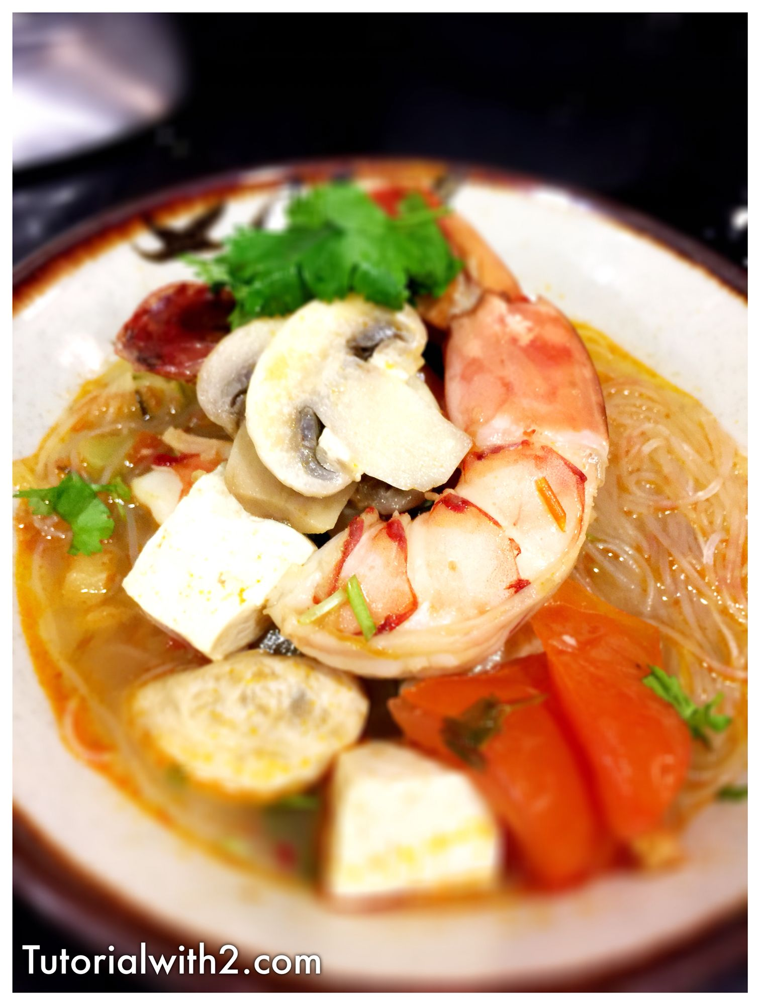 Delicious Tom Yum Soup Recipe  www.tutorialwith2.com