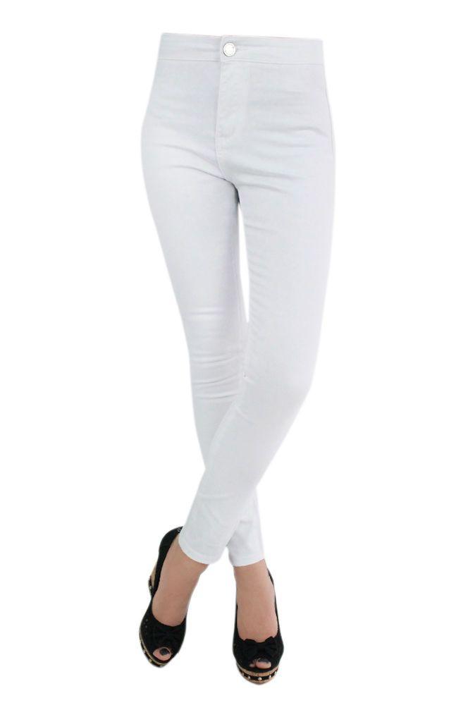 Skinny white jeans size 8