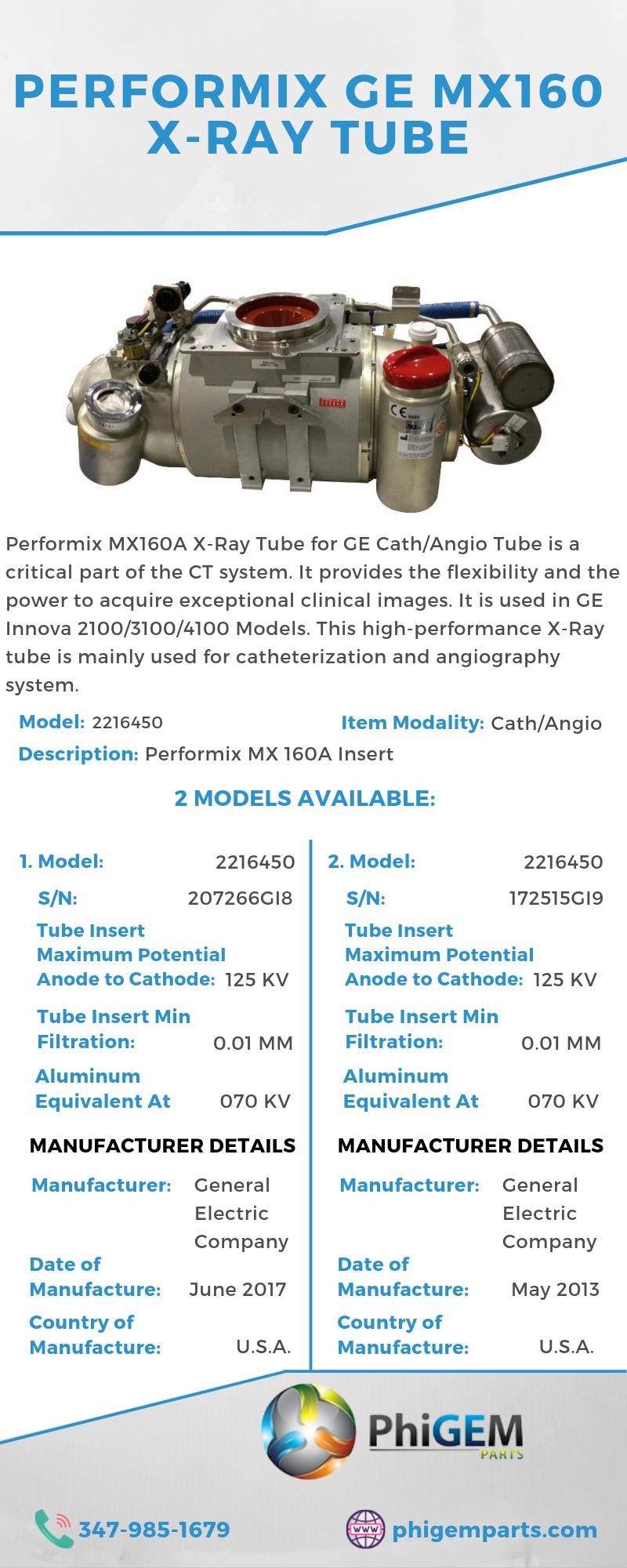 Performix Mx160 X Ray Tube Diagnostic Imaging X Ray Tube Medical