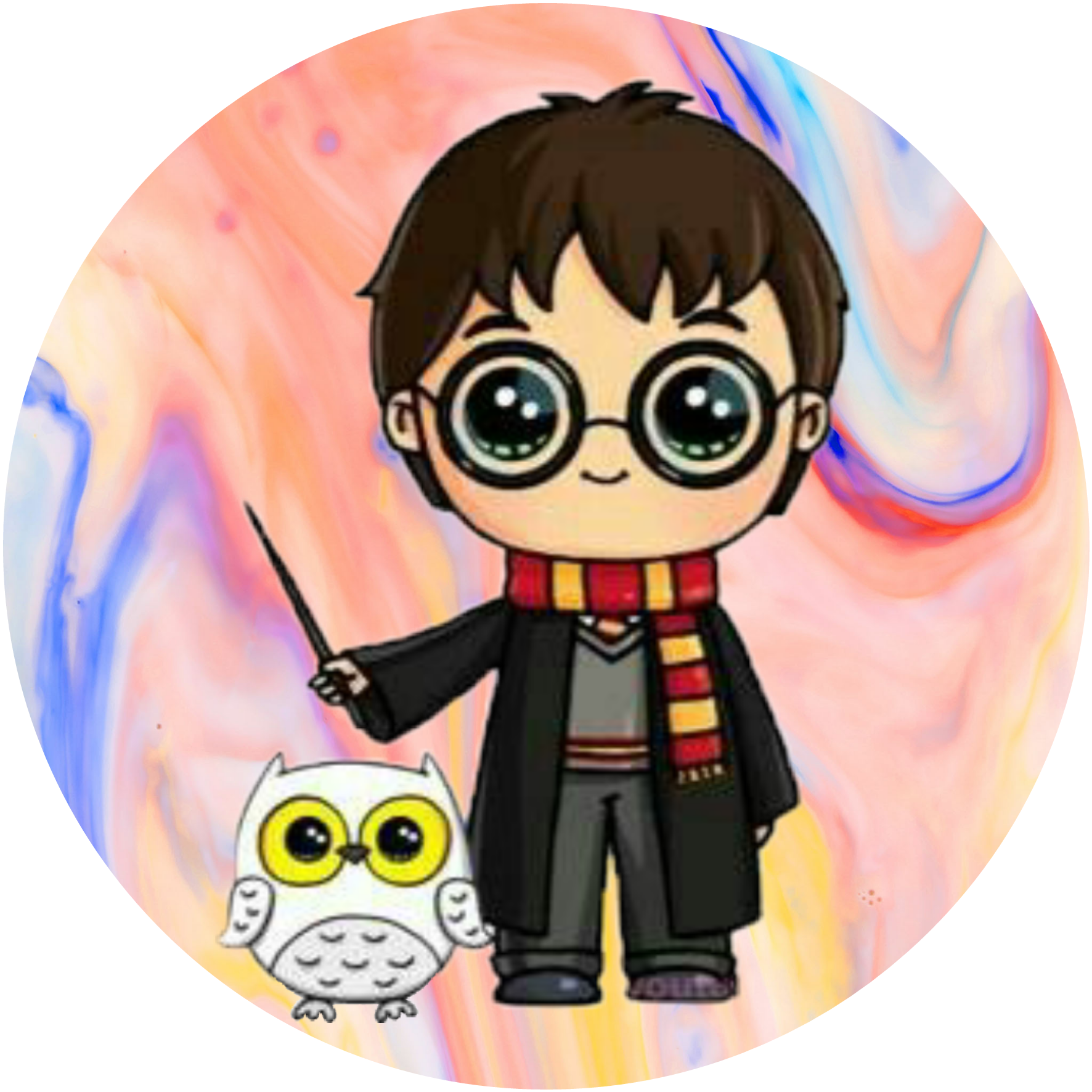 Picsart Harry Potter Cartoon Harry Potter Drawings Cute Harry Potter