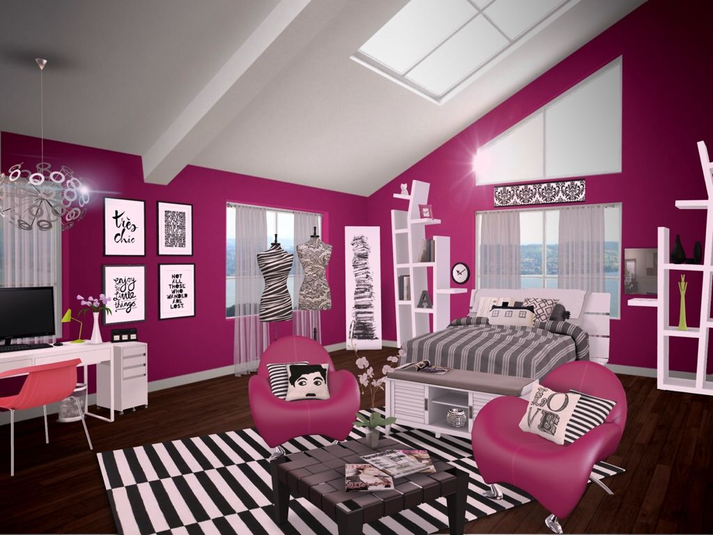magenta teen bedroom rooms pinterest bedrooms