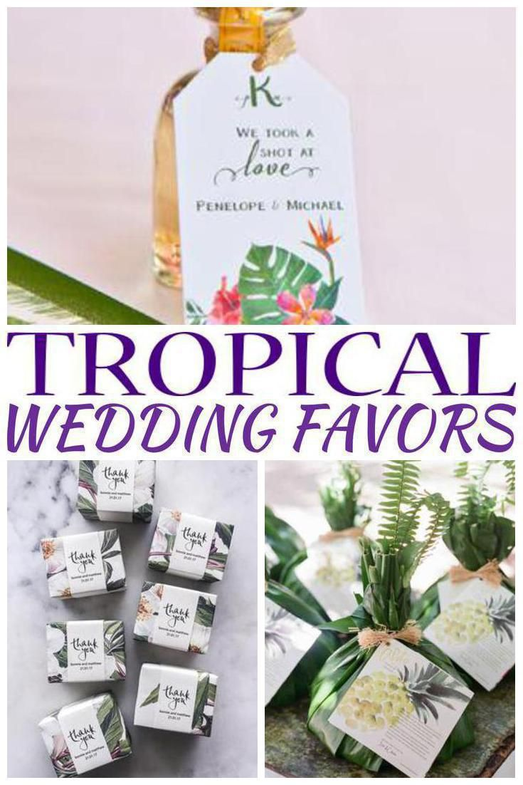 Tropical Wedding Favors | Wedding shower favors, Favors and Weddings