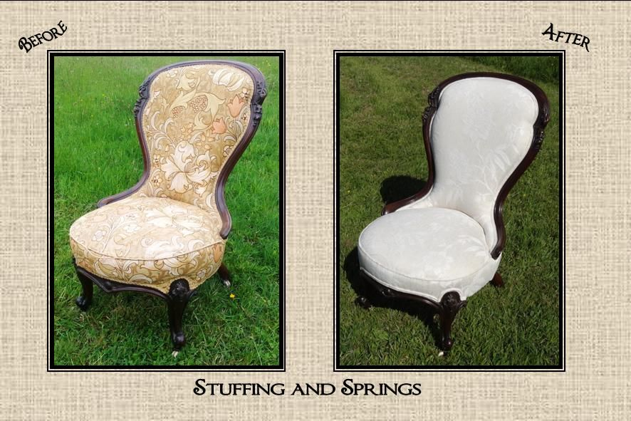Traditionally Reupholstered Victorian Nursing Chair By Stuffing And Springs  Www.stuffingandsprings.co.uk