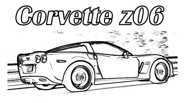 Corvette Cars Corvette Z06 Cars Coloring Pages Corvette