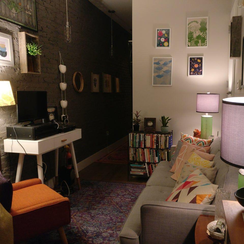 tiny brooklyn living room  amateurroomporn  interior