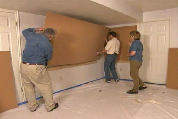 Learn How To Build And Install Cork Covered Wall Panels