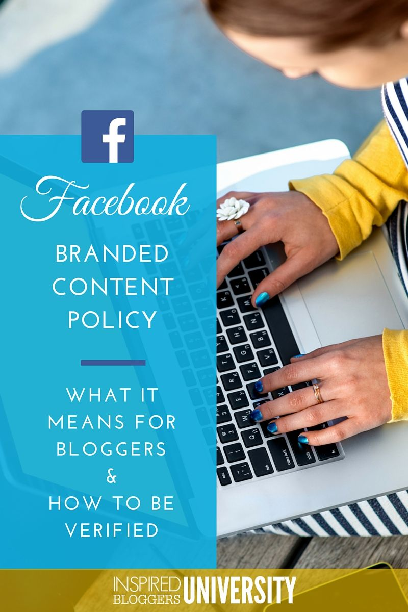 What does the new Facebook Branded Content Policy mean for
