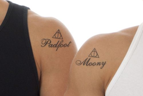 Matching Harry Potter Couple Tattoos
