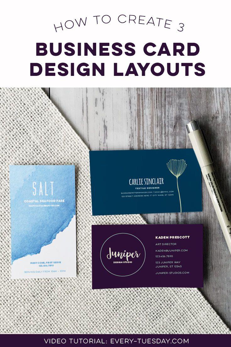 Create 3 Business Card Design Layouts in Illustrator   Design ...