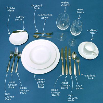Table Etiquette 101 Let us help you breakdown the proper table-setting! #  sc 1 st  Pinterest & Table Etiquette 101: Let us help you breakdown the proper table ...