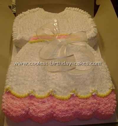 Baby Girl Shower Cake