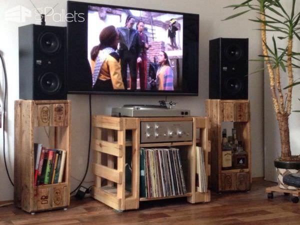 Turntable/Hi Fi/Lp Table U0026 Speaker Stands