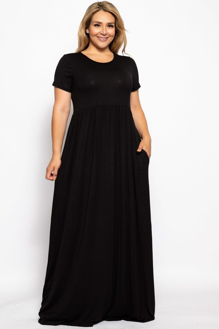 Do You Love Long Comfortable Dresses This Is The One For You Plus Size Casual Dresses Ideas Maxi Dress Short Sleeve Maxi Dresses Plus Size Maxi Dresses [ 1350 x 900 Pixel ]
