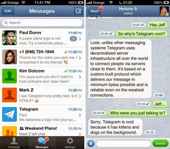Telegram Messenger is the growing android app, a new
