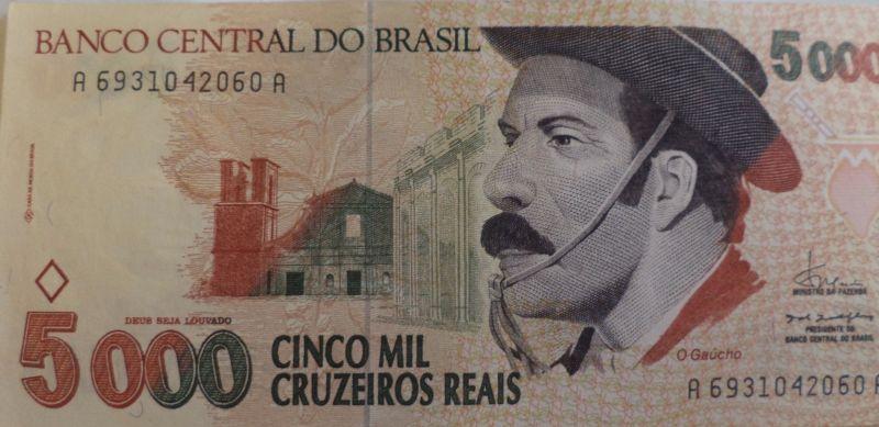 5000 Mil Cruzeiros Reais Brazil O Gaucho Unc Https Rover Ebay