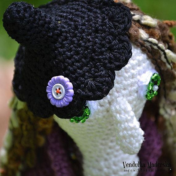 Crochet pattern Crochet witch Ms.Lavender by VendulkaM on Etsy