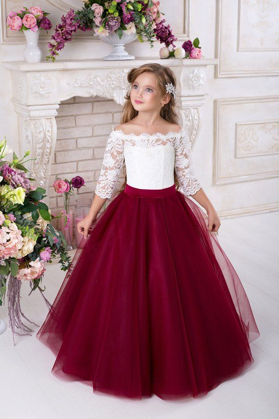 a6ee181c7fa Burgundy Bridesmaid Dress