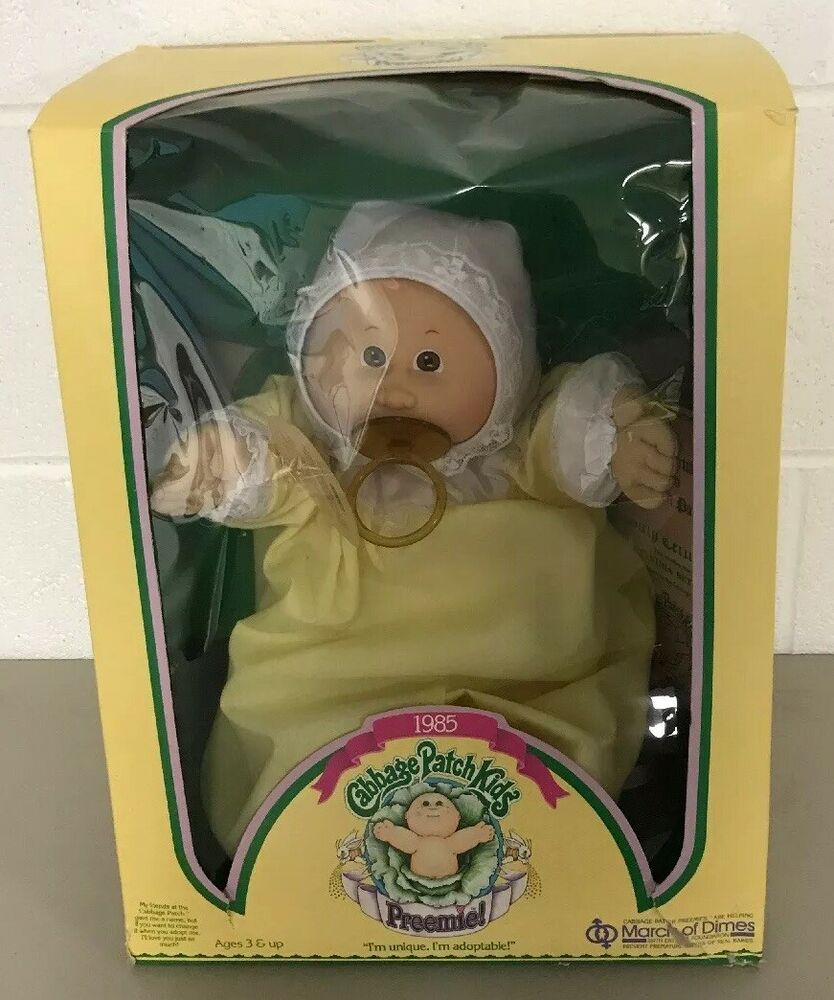 Vintage 1985 Coleco Cabbage Patch Preemie March Of Dimes Cynthia Betta Doll Cabbagepatchkid Cabbage Patch Kids Boy Cabbage Patch Kids Cabbage Patch Kids Dolls