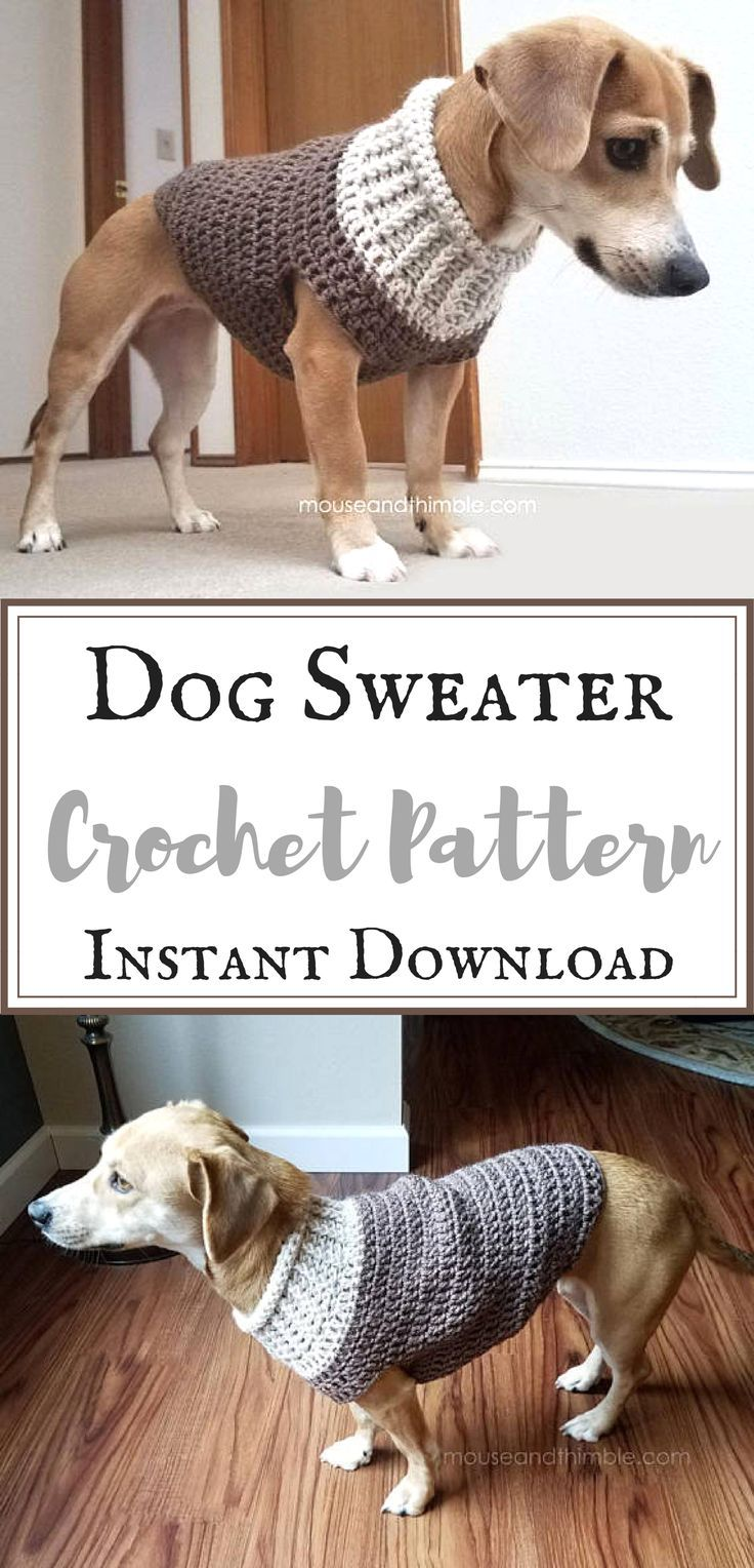 What a cute dog sweater!! I love that I can make it at home from the ...