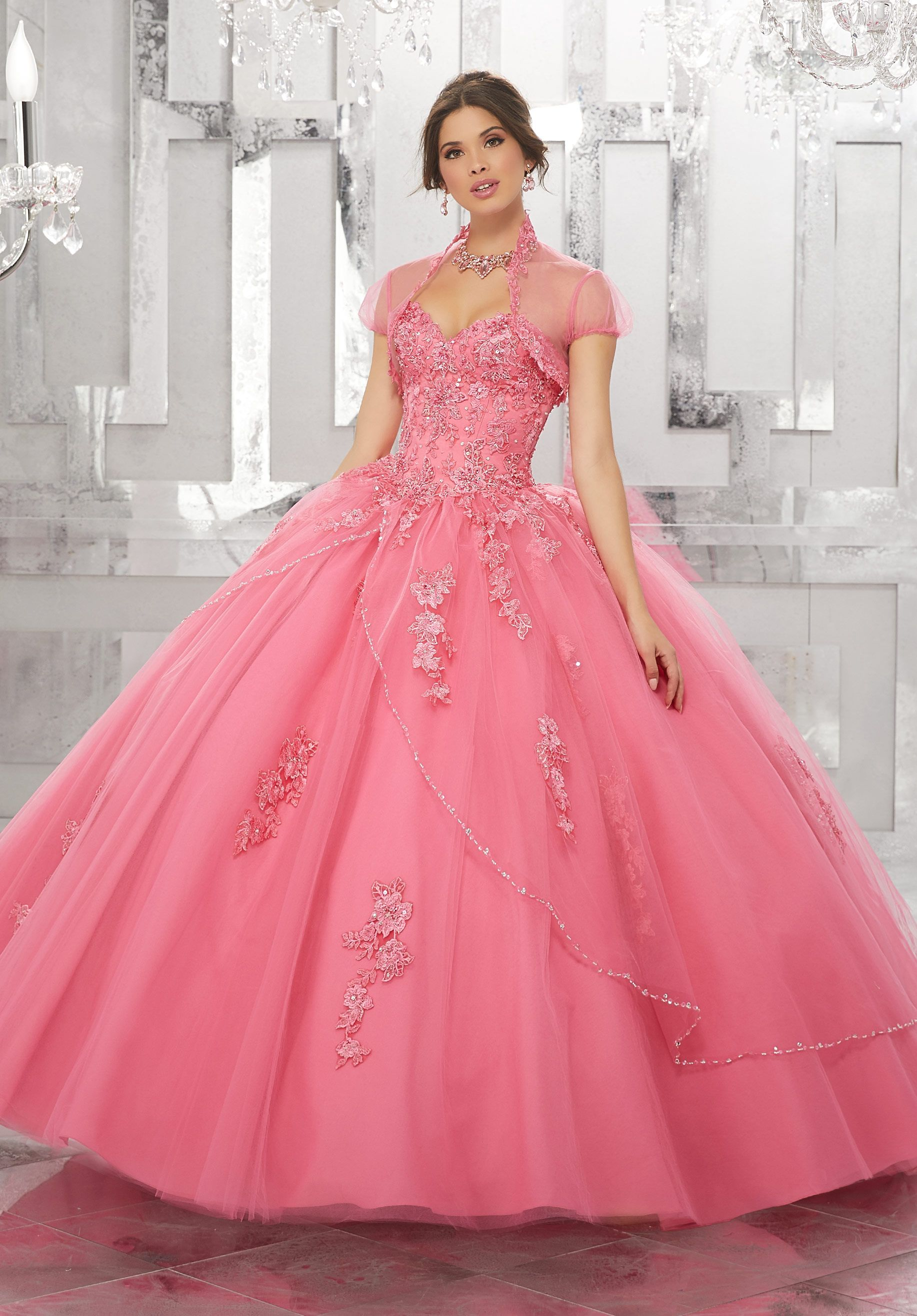 Princess Perfect, This Tulle Quinceañera Ballgown with Beaded Apron ...