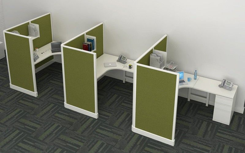 6 X 6 Modern Cubicles With 67 Quot H Privacy Screen Panels