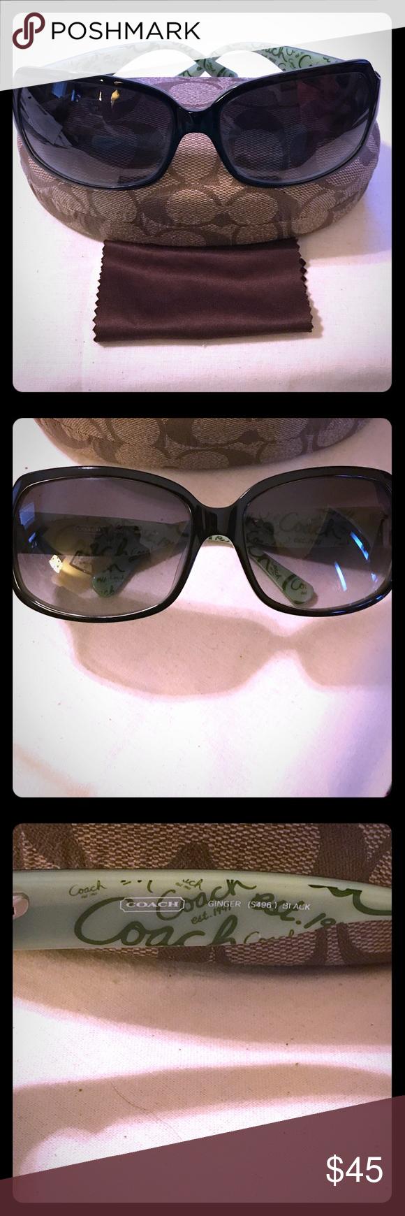 8906b7c72120 Coach Ginger Sunglasses (Authentic) Ladies COACH, Ginger S496 Black  Includes Authentic COACH