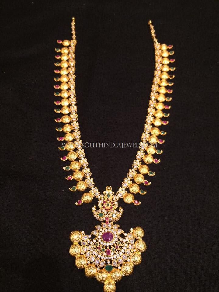 Gold Haram Design In 40 Grams Jewellery Pinterest