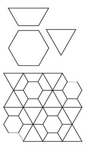 English Paper Piecing Stars Quilt Design Sheet Pattern