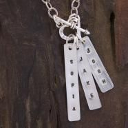 Love these personalized rectangle tags From Three Sisters Jewelry