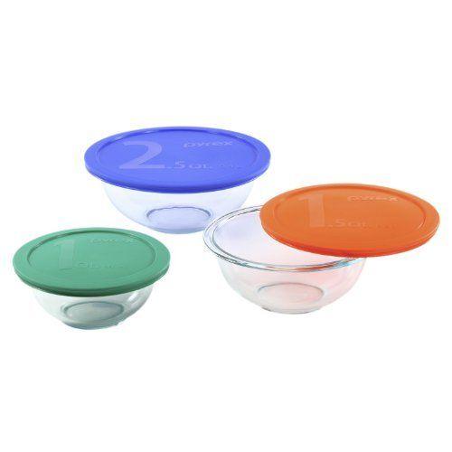 Pyrex Smart Essentials 6Piece Mixing Bowl Set