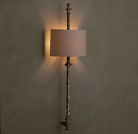 Lorraine architectural railing sconce restoration hardwarerailingslight