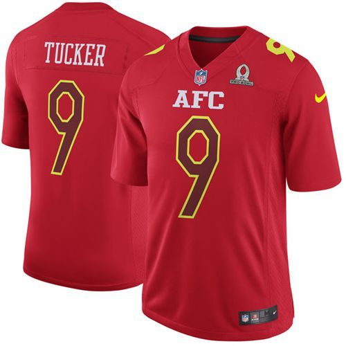 Rob Gronkowski jersey Nike Ravens  9 Justin Tucker Red Men s Stitched NFL  Game AFC 2017 53c79f418