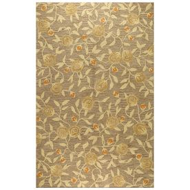 Bashian Stockport Rectangular Brown Floral Tufted Wool Area Rug (Common: 5-ft x 8-ft; Actual: 5-ft x 8-ft)