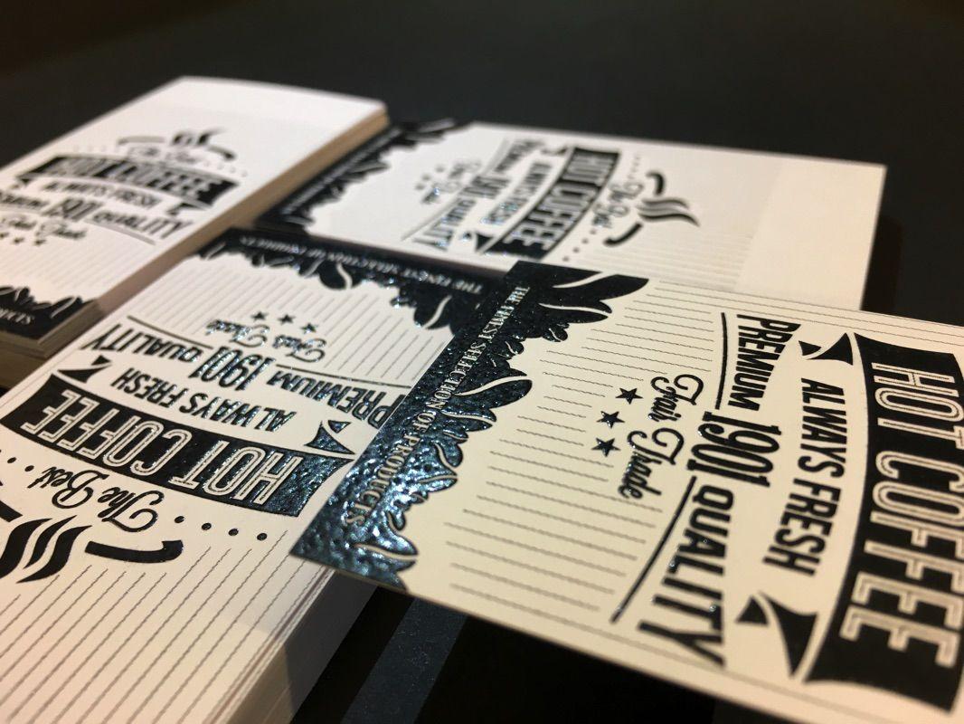 Carte De Visite En Thermorelief Noir Imprimerie ICB