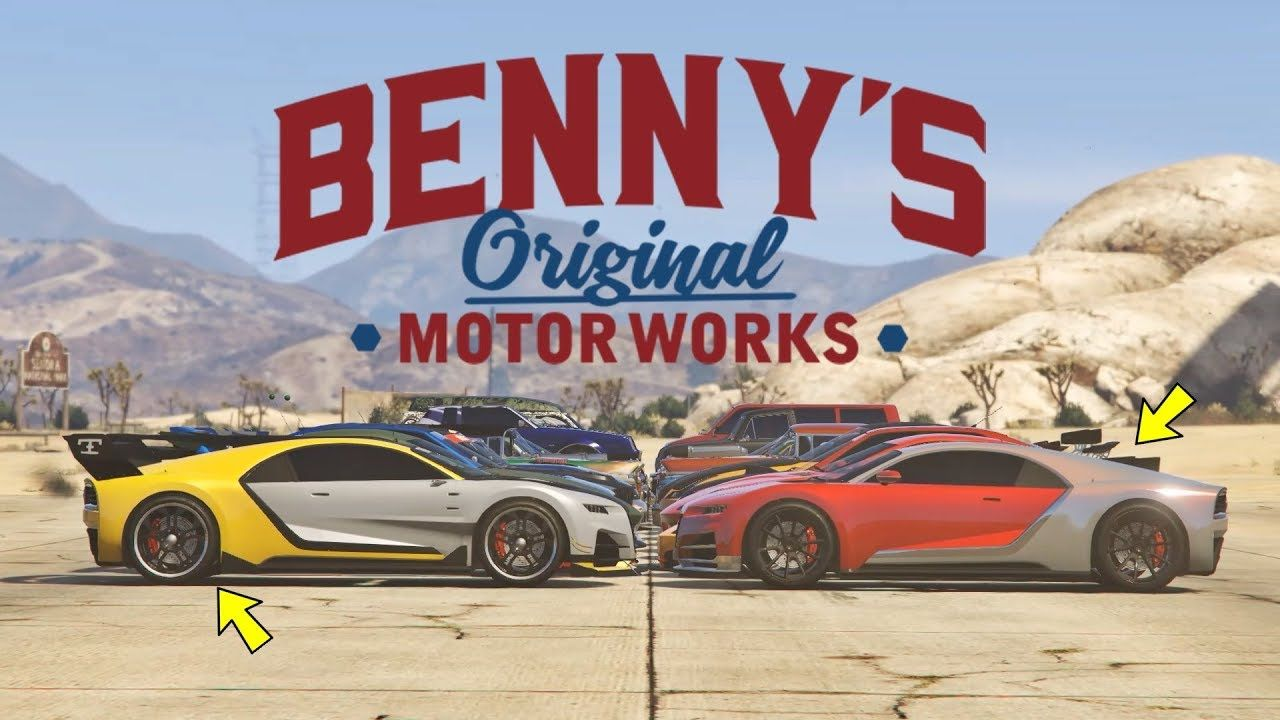 Gta 5 Online All Benny S Vehicles On One Place Upgrade Price Liverie Gta 5 Online Gta 5 Gta