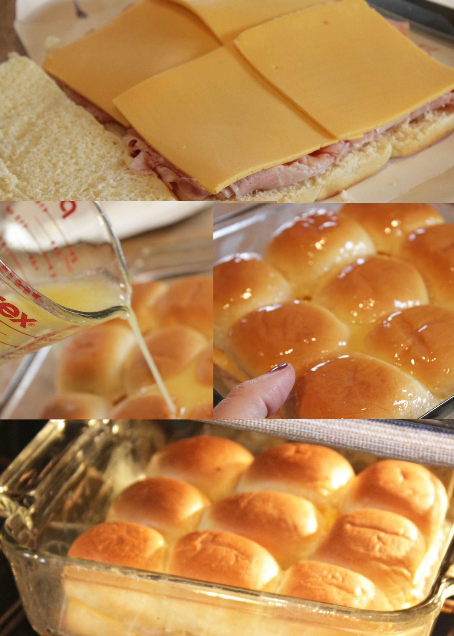 These Ham And Cheese Hawaiian Rolls Sliders Sandwich
