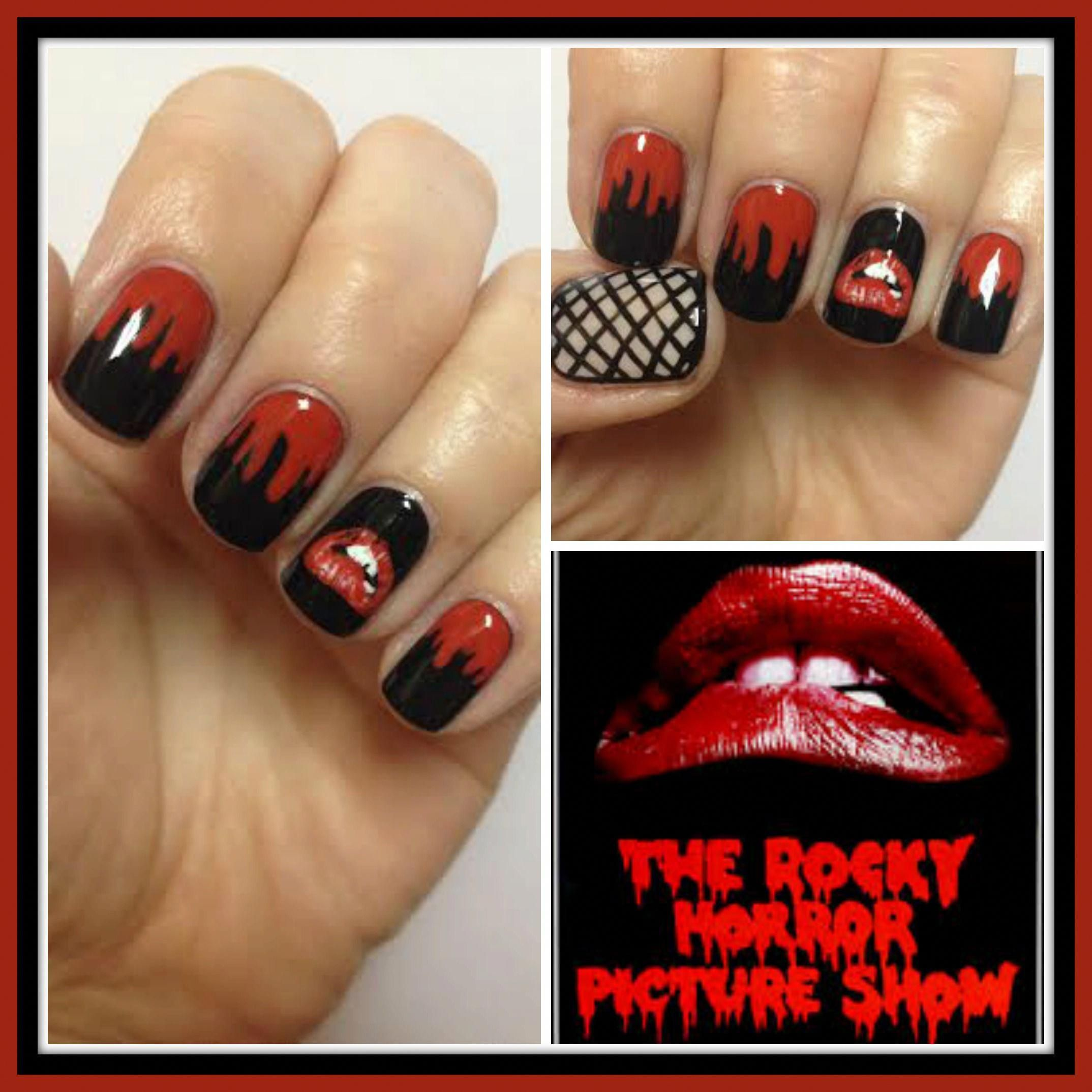 rocky horror picture show nail art for halloween nerdnaildesigns ...