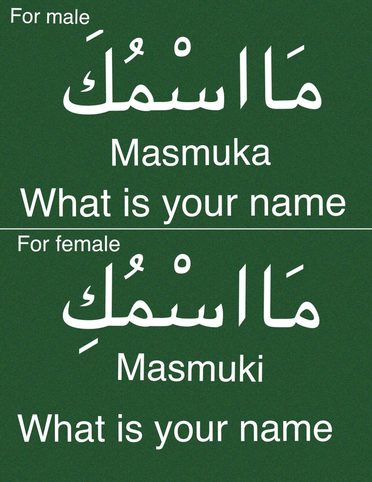 What Is Your Name Learn Arabic Language Learn Arabic Online Spoken Arabic