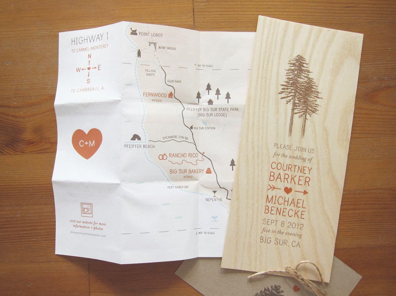 Custom Wooden Wedding Invitation. $8,00, via Etsy. | Wedding invites ...