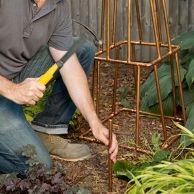 How to Build a Copper Trellis -   13 copper garden art ideas