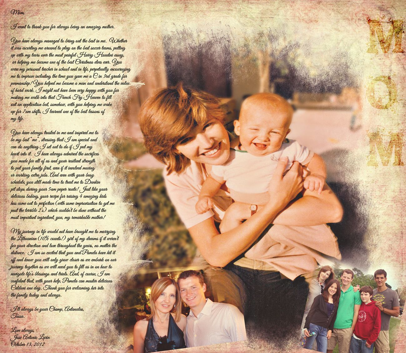 Mother Son Song For Wedding: Custom Personalized Photo Editing Mother Son Photo Art @PP