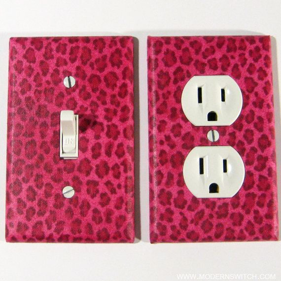 Pink Cheetah Spots Light Switch Plate and Outlet by ModernSwitch, $13.00