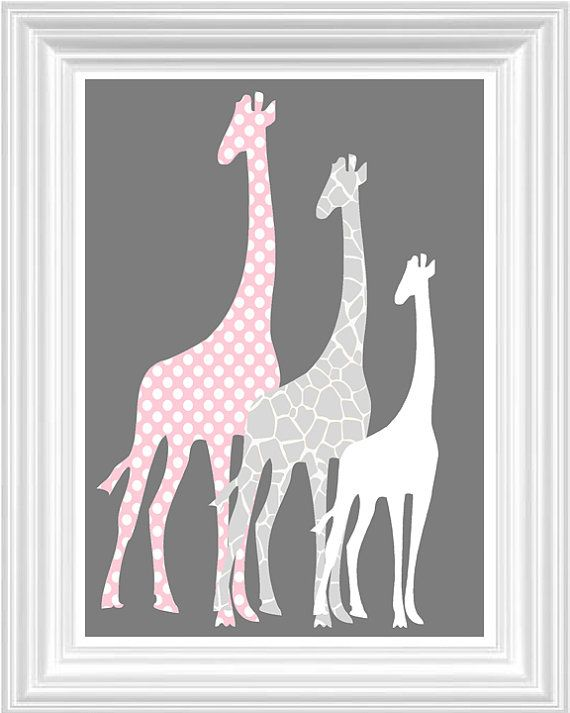 Elephant Giraffe Nursery Decor Perconalized By Fmdesignstudio