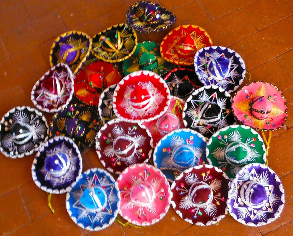 mexican sombrero set of 5 mini charro hats fiesta wedding decorations party