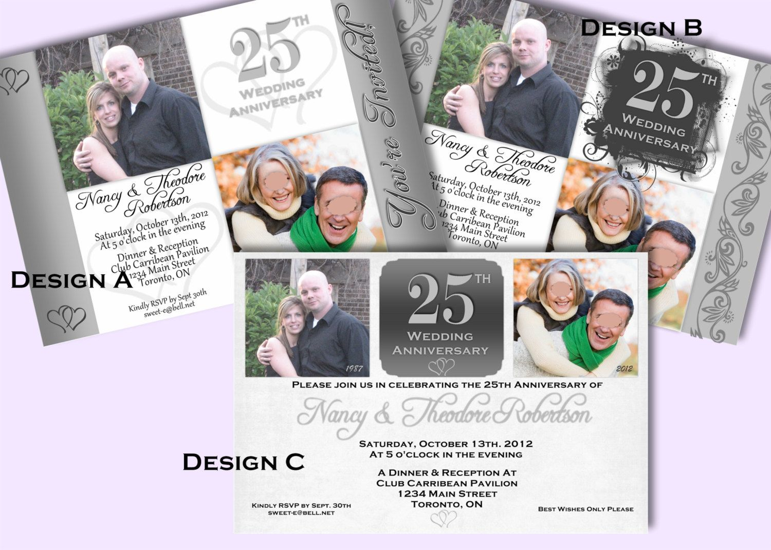 Exclusive Noticeable 50th Wedding Anniversary Party Invitation